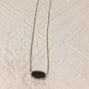 RARE Kendra Scott Elisa necklace- gold and plum